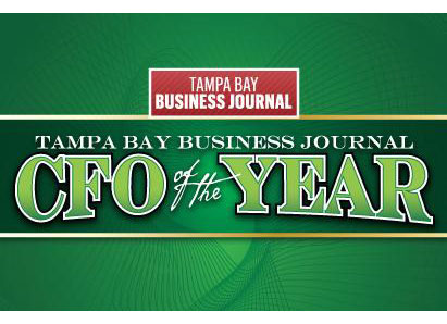 Our Chief Financial Officer (CFO) and Treasurer, for being named by the Tampa Bay Business Journal as a finalist for 2017 CFO of the Year.