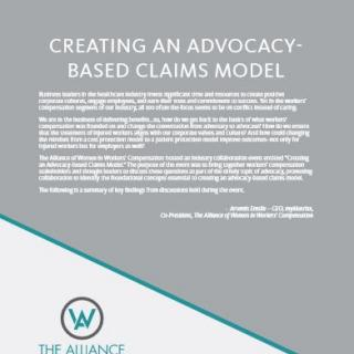 Creating An Advocacy-Based Claims Model