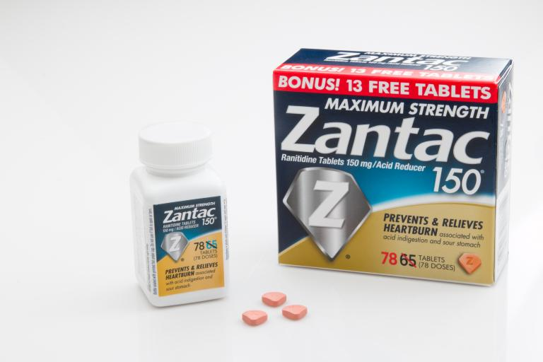 PENSACOLA, FL - March 11, 2017: Zantac 150 is a popular OTC antacid.